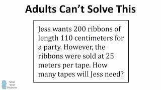 Adults Can't Solve This Maths Problem For 12 Year Olds In Singapore