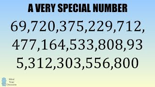 69,720,375,229,712,477,164,533,808,935,312,303,556,800 Is A Very Special Number