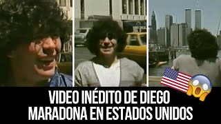 Video inédito de Maradona en Estados Unidos