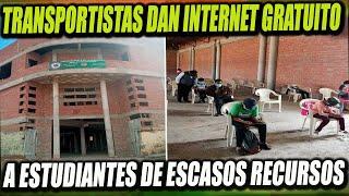 Transportistas de Cochabamba brindan internet gratuito a estudiantes de escasos recursos