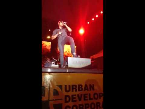 G blunt performing at fireworks downtown kgn