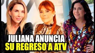 JULIANA OXENFORD AL FIN ANUNCIÓ SU REGRESO A LA CONDUCCION DE ATV JUNTO A ANDREA LLOSA Y MAGALY