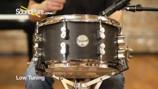 PDP 7x13 Concept Maple Black Wax Snare Drum Quick n' Dirty