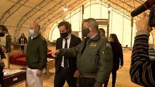 El Gobierno inauguró un centro de aislamiento para pacientes con coronavirus hecho por el Ejército
