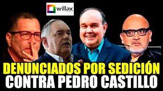 DENUNCIAN A LÓPEZ ALIAGA, BUTTERS, BETO ORTIZ Y A MONTOYA Y A WILLAX TV POR SEDICIÓN