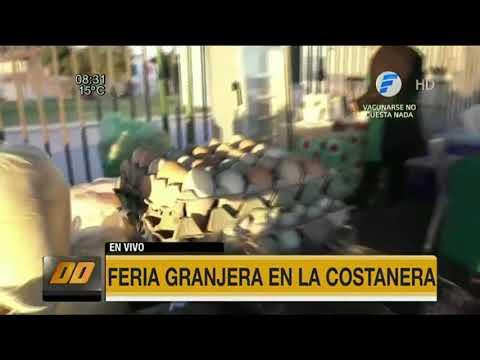 Feria granjera en la Costanera de Asunción