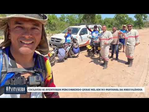 Ciclistas se aventuram percorrendo quase mil km no Pantanal da Nhecolândia