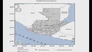 Sismo de magnitud 4.4 fue sensible en Guatemala