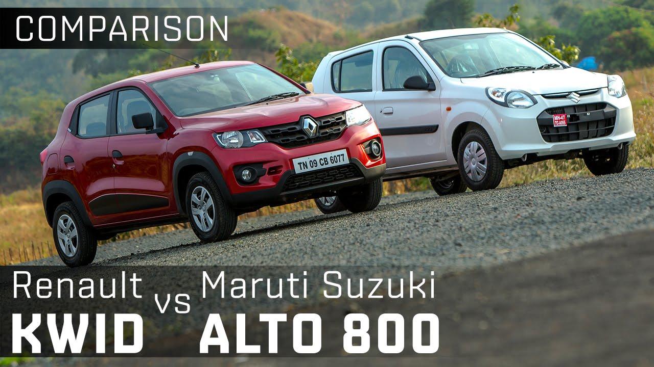 Renault Kwid vs Maruti Suzuki Alto800 :: Entry-level Hatchback Comparison :: ZigWheels