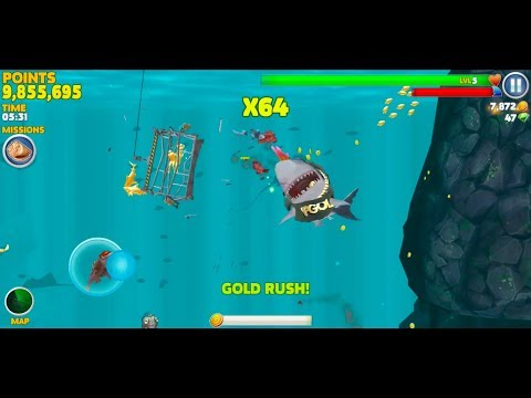 Hungry Shark Evolution Android Gameplay #25 (New Hi-Score)