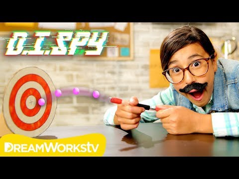 How to Throw Someone Off Target! (DIY Pellet Launcher) | D.I.SPY