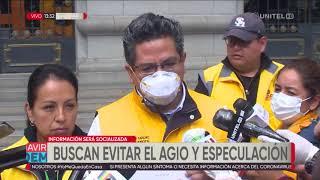 Alcaldía en La Paz publica lista de precios para evitar agio y especulación
