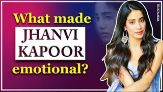 Jhanvi Kapoor gets EMOTIONAL due to THIS reason | Details inside | Tellychakkar - TELLYCHAKKAR