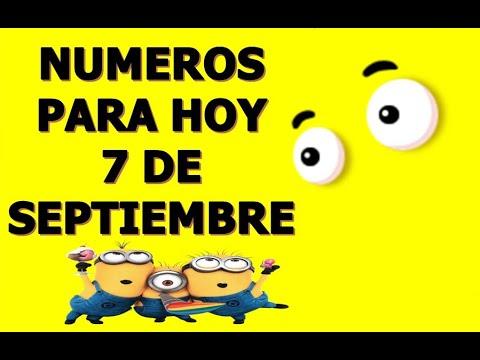 NUMEROS DE LA SUERTE PARA HOY 7 DE SEPTIEMBRE