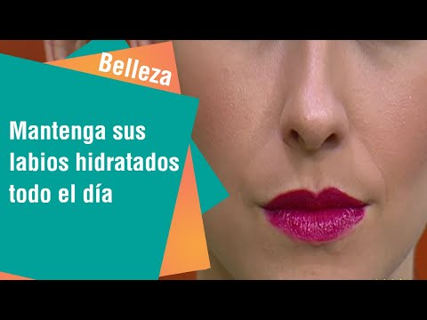 Mantenga sus labios hidratados todo el día   Belleza