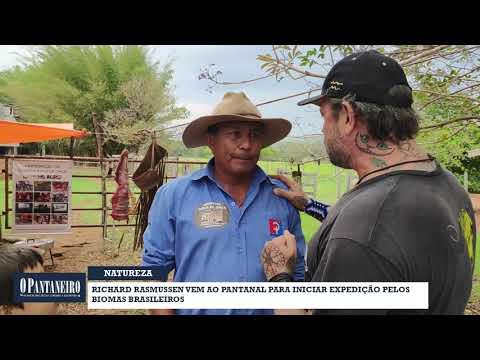 Richard Rasmussen vem ao Pantanal para iniciar expedição pelosbiomas brasileiros