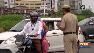 Strict checking underway at Delhi-Gurugram border - INDIATV