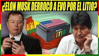 Elon Musk Dice que ayudó a Derrocar a Evo Morales por el Litio Boliviano