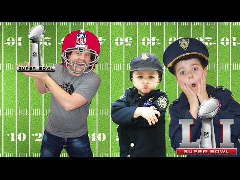Super Bowl LII Football Game and The Stolen Trophy Parody with Funny Kids