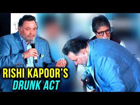 Rishi Kapoor ENACTS Amitabh Bachchan's DRUNK ACT From A Film | BADUMBAAA Song