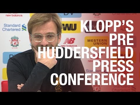 Jürgen Klopp's pre-Huddersfield press conference