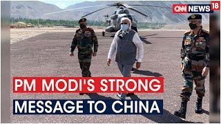 PM Modi Sends Strong Message To China, Visits Leh & Intracts With The Soldiers | CNN News18 - IBNLIVE
