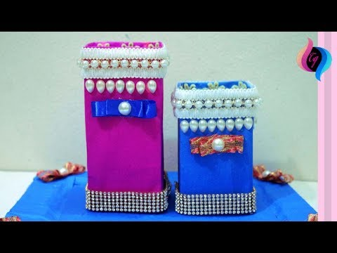 DIY Desk Organizer - How To Make Pen Stand From Waste Material - Recycled Craft