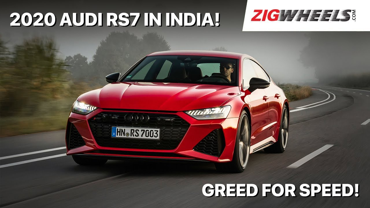 ZigFF: 2020 🏎️ Audi RS7 Launched In India | Red Riding Rocket! | Zigwheels.com