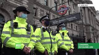 «Jour de la liberté» : manifestation anti-restrictions à Londres devant Downing Street