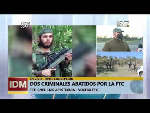Concepción: Dos criminales fueron abatidos por la FTC