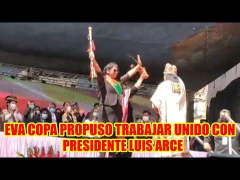 EVA COPA EN EL ACTO DE POSESIÓN DE LAS ORGANIZACIONES SOCIALES DESDE LA CIUDAD DEL ALTO..