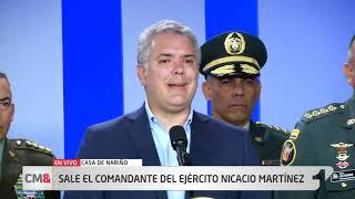 Presidente Duque releva al comandante del Ejército, Nicacio Martínez