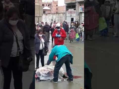 #El Alto #Rio seco Hoy....surgió un accidente en la avenida santa fe.fue atropellada una señora