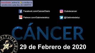 Horóscopo Diario - Cáncer - 29 de Febrero de 2020