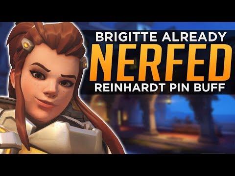 connectYoutube - Overwatch: Brigitte NERFED Already! - Reinhardt Pin FIXED!