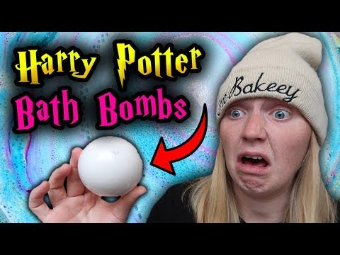 TRYING HARRY POTTER BATH BOMBS (Sorting Hat, Butterbeer, Golden Snitch)