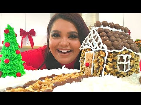connectYoutube - DIY Edible Snow Slime + How To Make A Holiday Cake Cottage!