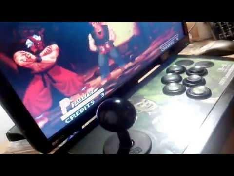 Arcade Fightstick Button Layout Test