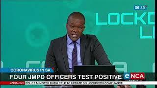 COVID-19   Four JMPD officers test positive