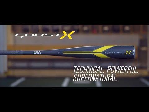 Easton Ghost X Hyperlite USA Baseball Bat | 2018 Tech Video