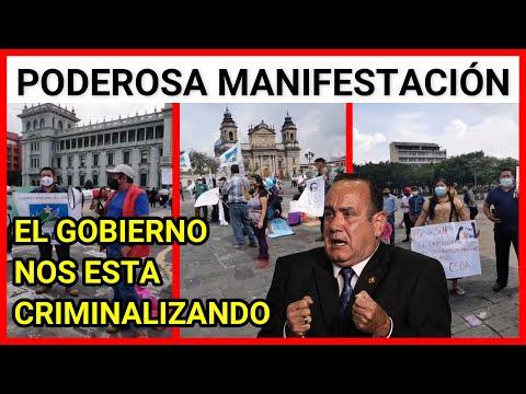 Resumen de la manifestación en contra de Alejandro Giammattei y su Gobierno que criminaliza