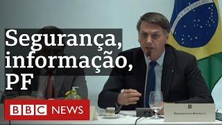 O que Bolsonaro disse sobre PF na reunião ministerial de 22 de abril