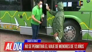 Este lunes reinicia el transporte interdepartamental en Santa Cruz