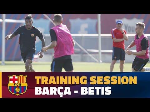 FC Barcelona training session before Betis