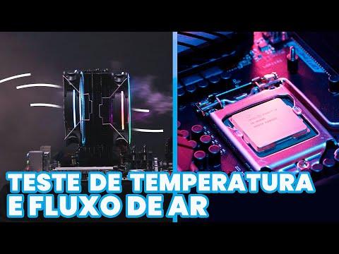 Teste de Temperatura CPU em Push and Pull WOLF120