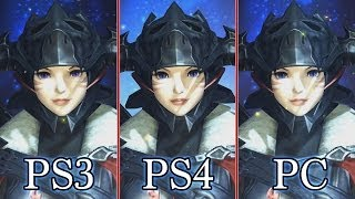 Final Fantasy 14 Online: A Realm Reborn - Graphics Comparison (PS3, PS4, PC)