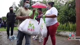 MIDES junto a la alcaldía de San Salvador entrega canastas básicas