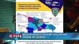 Menos arrestos por violentar toque de queda