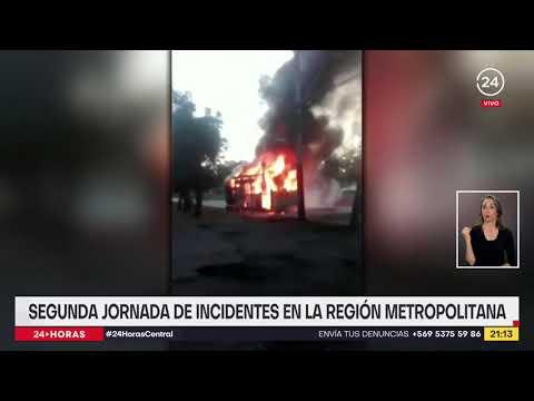 Incidentes en la RM: se registraron saqueos, quema de buses y ataques a comisarías