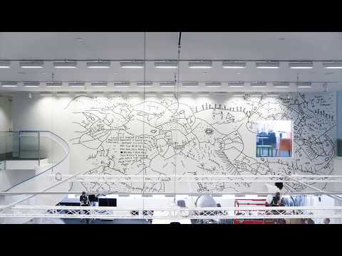 Drawing on the walls at MIT